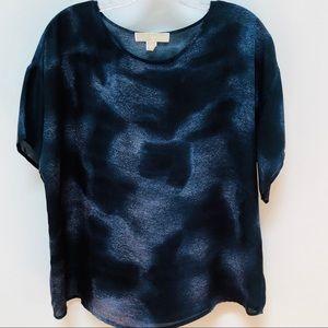 Michael Kors Navy Blue Oversized Short Sleeve Top